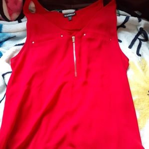 Express Zippered Blouse Size S